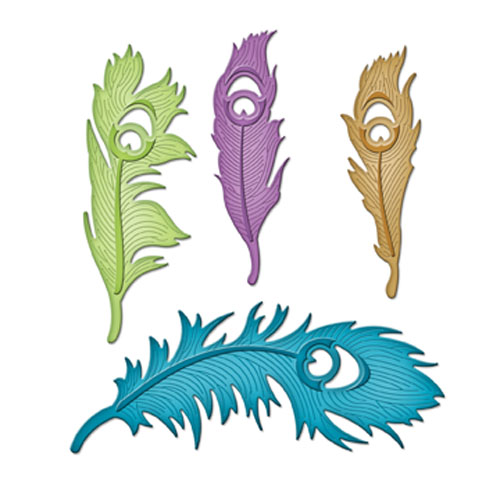Spellbinders - Die - Shapeabilities - Peacock Feathers