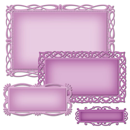 Spellbinders - Die - Nestabilities - Romantic Rectangles Two
