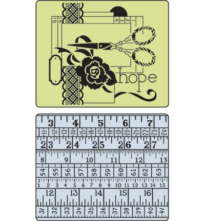 Sizzix - Embossingfolder - Sewing & Measuring Tape Set - 657671