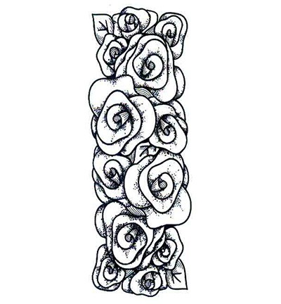 Creative Expressions - Cling Stamp - Singles - Rose Striplet - UMS086