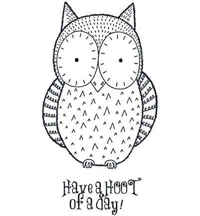 Creative Expressions - Cling Stamp - Singles - Hoot - UMS103