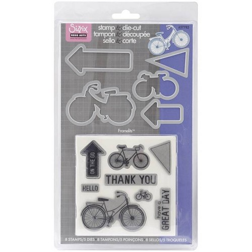 Sizzix - Die & stamp - Framelits - Bicycle