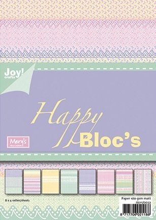 Joy! crafts - Paperpack - Happy: Rose-Paars