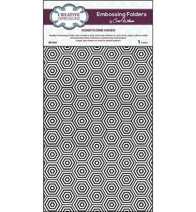 Creative Expressions - Embossingfolder - Honeycomb haven - EF-019
