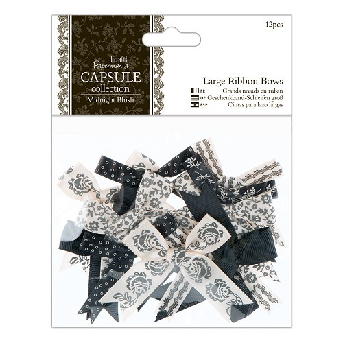 Papermania - Strikken / bows - Capsule Collection - Midnight Blush - PMA367211