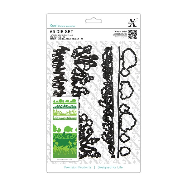 Docrafts - Xcut - Die set - English Countryside Borders