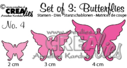 Crealies - Die - Set of 3 - Butterflies - No. 4