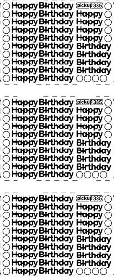 Pickup - Stickervel - Teksten - Happy Birthday: Zilver - 385