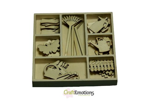 CraftEmotions - Wooden Ornaments - Tuingereedschap - 811500/0209