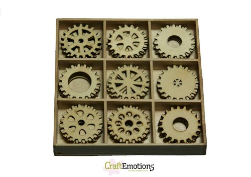 CraftEmotions - Wooden Ornaments - Gears - 811500/0212