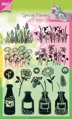 Joy! crafts - Clearstamp - Spring Flowers - 6410/0306