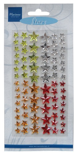 Marianne Design - Parels & strass - Decoration stars Christmas - CA3113