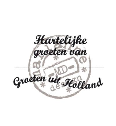 Marianne Design - Clearstamp - Groeten uit Holland - CS0898