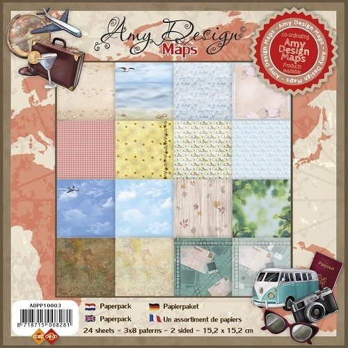Card Deco - Amy Design - Paperpack - Maps