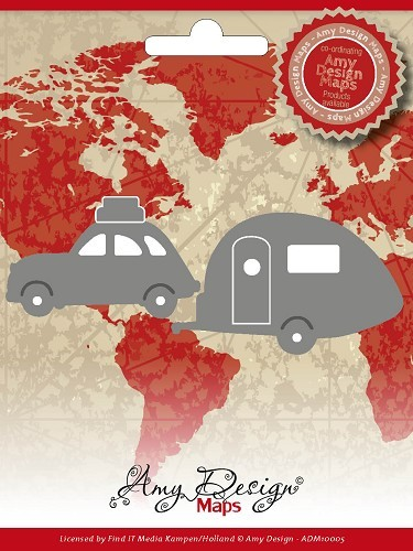 Amy Design - Die - Map Collection - Car with caravan - ADM10005