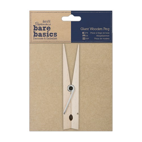 Papermania - Bare Basics - Giant Wooden Peg - PMA174605