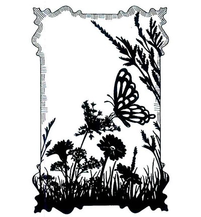 Creative Expressions - Cling Stamp - Stamps To Die For - Butterfly Meadow - UMS552