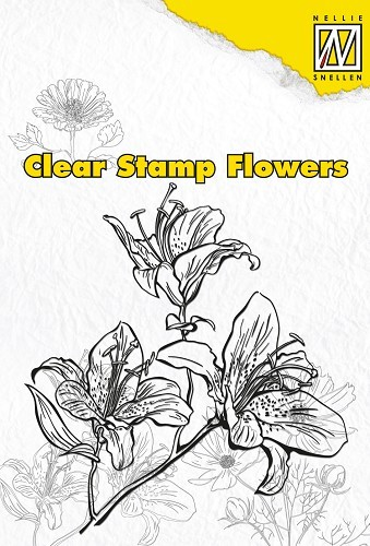 Nellie Snellen - Clearstamp - Flowers - Lily - FLO003