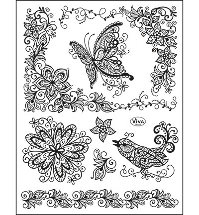 Viva Decor - Clearstamp - Scribble Butterfly - 4003 077 00
