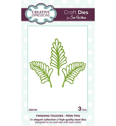 Creative Expressions - Die - The Finishing Touches Collection - Fern Trio