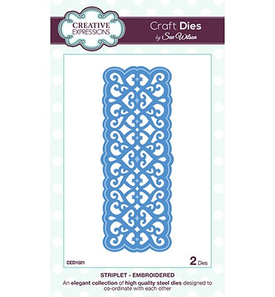 Creative Expressions - Die - The Striplet Collection - Embroidered