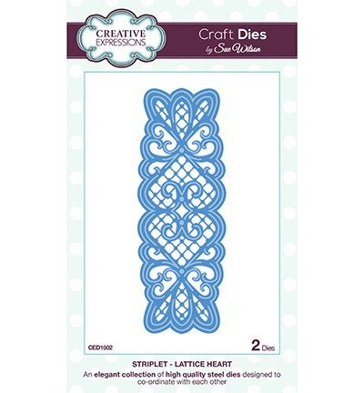 Creative Expressions - Die - The Striplet Collection - Lattice Heart