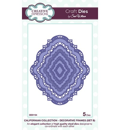Creative Expressions - Die - The Californian Collection - Decorative Frames (set B)
