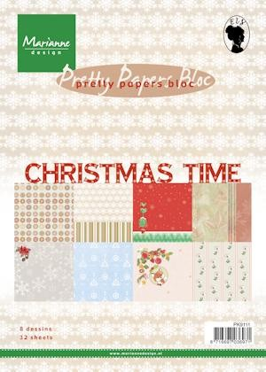 Marianne Design - Paperpack - Pretty Papers - Christmas Time - PK9111