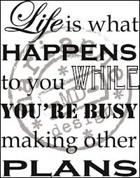 Marianne Design - Clearstamp - Life is what happens - CS0901