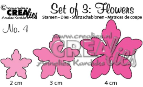 Crealies - Die - Set of 3 - Flowers - No. 4