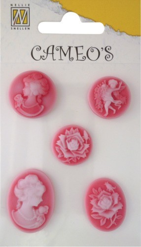 Nellie Snellen - Embellishment - Cameo`s: Rood - CAM007