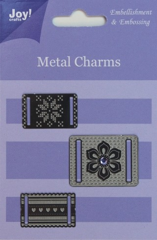 Joy! crafts - Metal Charms - Voor lint - 6350/0101