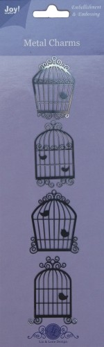 Joy! crafts - Metal Charms - Vogelhuisjes - 6350/0102