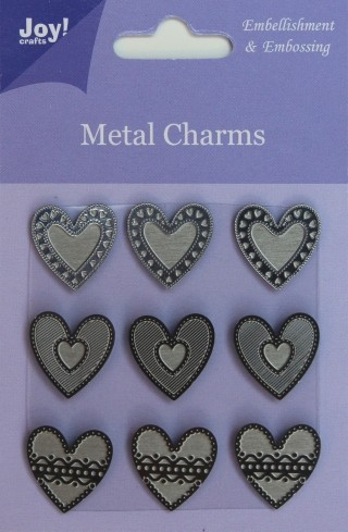 Joy! crafts - Metal Charms - Hartjes - 6350/0104