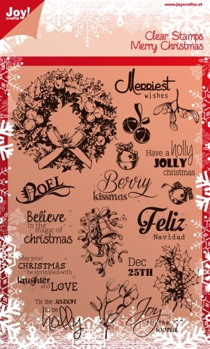 Joy! crafts - Noor! Design - Clearstamp - Merry Christmas - 6410/0114