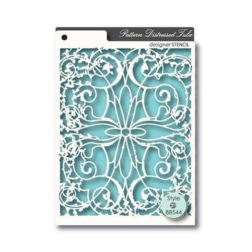 Memory Box - Designer Stencil - Pattern Distressed Tula - 88544
