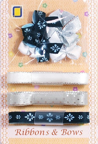 JEJE - Ribbons & Bows: Zwart/wit - 8.9005