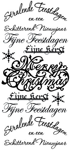 Amy Design - Stickervel - Kerst - Teksten: Goud - ADS10001