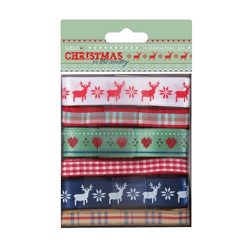 Docrafts / Papermania - Ribbon - Christmas in the Country
