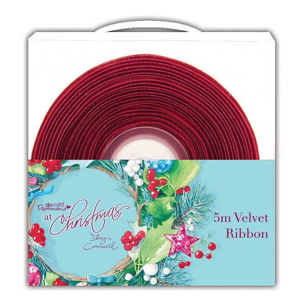 Docrafts / Papermania - Ribbon - At Christmas: Purple