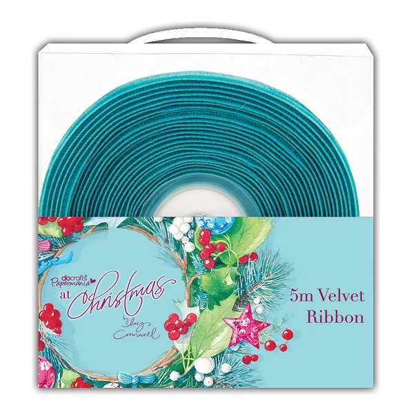 Docrafts / Papermania - Ribbon - At Christmas: Teal