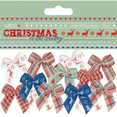 Papermania - Strikken / bows - Christmas in the Country - PMA367291