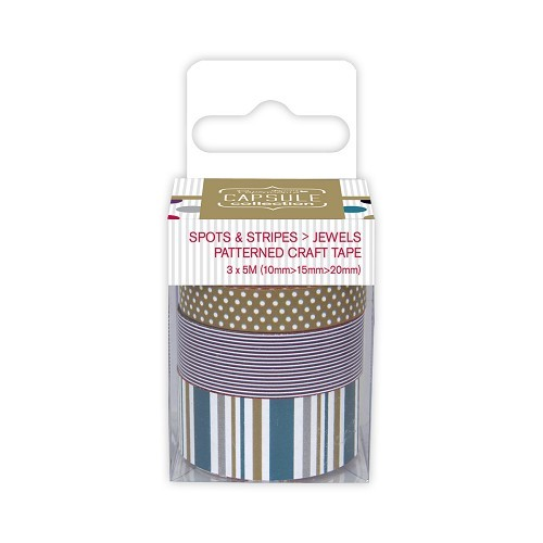 Papermania - Craft Tape - Spots & Stripes Jewels - PMA462203