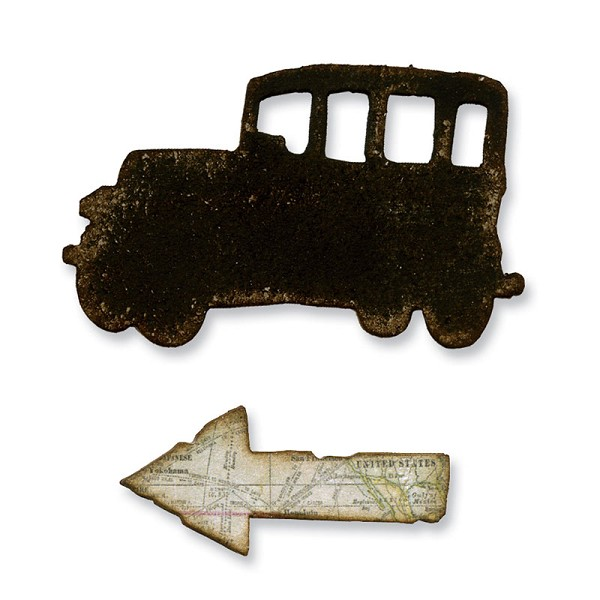 Sizzix - Die - Movers & Shapers - Mini Old Jalopy & Arrow Set