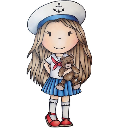 Paper Nested Dolls - Cling Stamp - Nautical Ellie - 2383