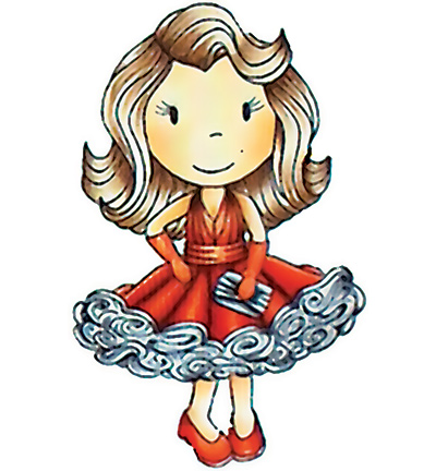 Paper Nested Dolls - Cling Stamp - Miss Hollywood - 1169