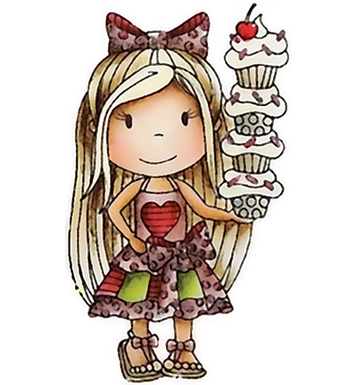 Paper Nested Dolls - Cling Stamp - Cupcake Ellie - 1301