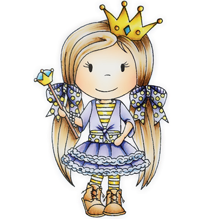 Paper Nested Dolls - Cling Stamp - Posh Princess - 2018