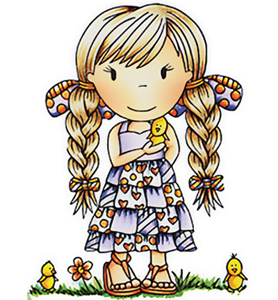 Paper Nested Dolls - Cling Stamp - Little Chick Ellie - 2052