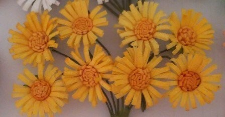 ScrapBerry`s - Paper Flowers - Daises: Yellow - SCB281403